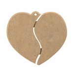 Пано MDF за декорация сърце 23x20.5 см