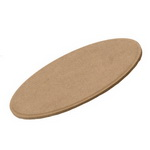 MDF panel for decoration oval 20x15 cm
