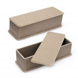 Кутия MDF за декорация 10.5x34.9x9 см вътрешен размер №NK04