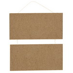 MDF wooden tile with rope for decoupage, DIY decoration  2x10x20 cm