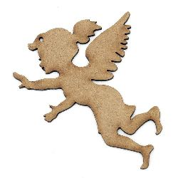 Фигурка кафява МДФ за декорация ангел 100x80x2 мм