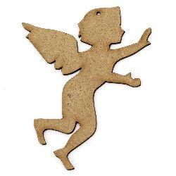 Figurina MDF maron pentru decorarea îngerilor 100x85x2 mm
