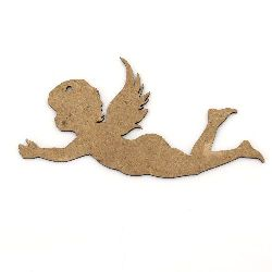 MDF Wooden Element angel decoration 90x50x2 mm