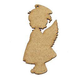 Фигурка кафява МДФ за декорация ангел 100x45x2 мм