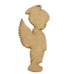 Figura din MDF maron pentru decorarea îngerilor 100x40x2 mm