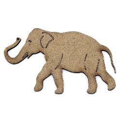 Фигурка кафява МДФ за декорация слон 100x60x2 мм