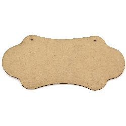 MDF plate for decoration 29.5x11 cm