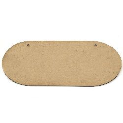 MDF plate for decoration 30x12 cm