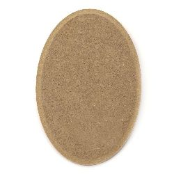 MDF Wooden Element Decoupage oval 80x120 mm decoration