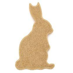 Panou MDF pentru decorare iepure 12x21,5 cm