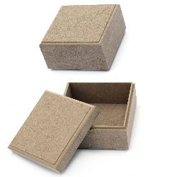 Кутия MDF за декорация 13x13x7 см