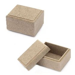 Кутия MDF за декорация 8x10x6 см