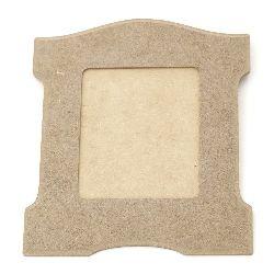 MDF frame 22.5x19.5 cm.