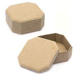 Кутия MDF за декорация осмоъгълна 16x16x7 см