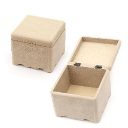 Кутия MDF за декорация квадрат 13x13x11.5 см
