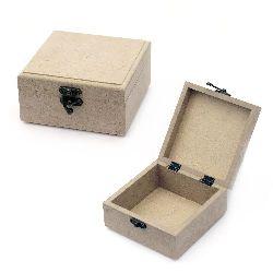 Кутия MDF за декорация със закопчалка 13x13x7 см