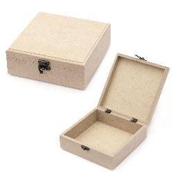Кутия MDF за декорация със закопчалка 18x18x7 см