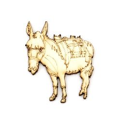 Figurine wooden for donkey decoration 47x40x3 mm -2 pieces