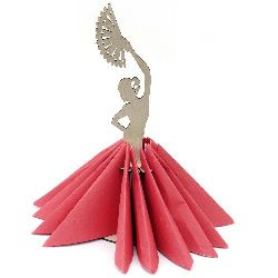Wooden napkin holder in shape of flamenco dancer № S01 11x31 cm