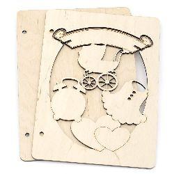 Wooden Covers Scrapbooking Album 16x22x3cm