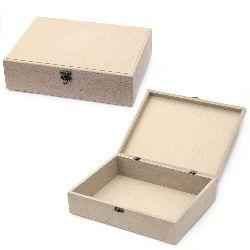 Кутия MDF за декорация със закопчалка 23x31x9 см