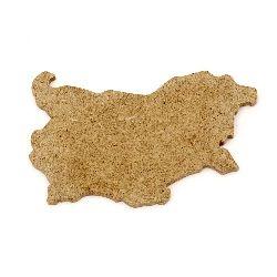 Harta Bulgariei din MDF pentru decor 6x10 cm №M132