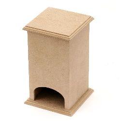 Къщичка за чай MDF за декорация 9x9x16 см