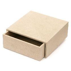 Кутия MDF за декорация 20x20x8 см с чекмедже