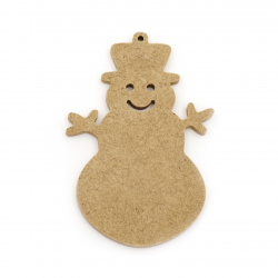 MDF Wooden Element Decoupage decoration SNOWMAN 100x70x6 mm