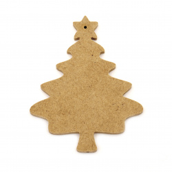 MDF figurine for decoration Christmas tree 100x80x6 mm