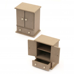 Скрин MDF за декорация 100x120x70 мм двукрилен с чекмедже