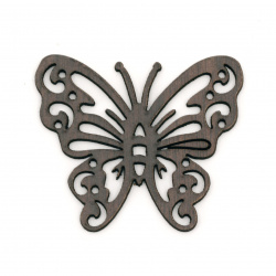 MDF Wooden Element for decoration butterfly 39x46x2 mm