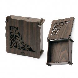 Кутия сгъваема МДФ за декорация 90x35 мм кафява