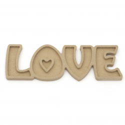 "MDF Wooden lettering for decoration ""Love"" 215x70x10 mm"