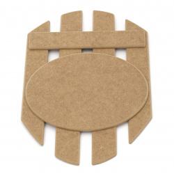 MDF panel key hanger with 4 hooks 21x30.5 cm №Z001