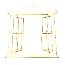 Chipboard window for various decoration 100x100x1 mm