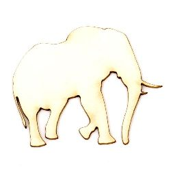 Elephant made of chipboard for crafting cognitive boards for children 40x50x1 mm - 2 pieces