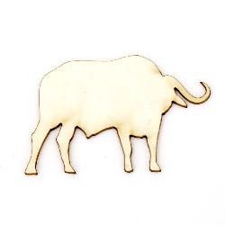 Bull made of chipboard 32x50x1 mm - 2 pieces