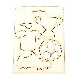Set de elemente din carton de bere pentru fotbal