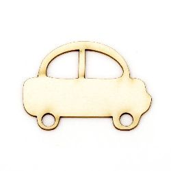 Car made of chipboard for handmade hobby projects 35x50x1 mm - 2 pieces