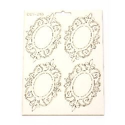 Set of chipboard elements Set № 010 ornaments for albums decoration, boxes, note books