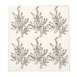 Set of elements of chipboard leaves,  elements for albums, festive cards decoration 7.5 cm