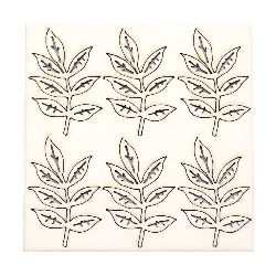 Set of elements of chipboard leaves for embellishment of notebooks, frames, albums 7 cm