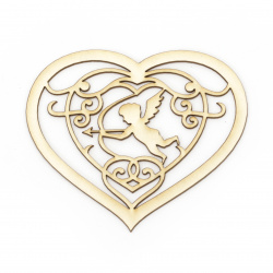 Inima cu un înger din carton de bere 80x90 mm