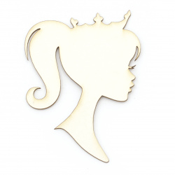Princess made of chipboard for albums, prom greetings cards, various decorations making 110x82 mm