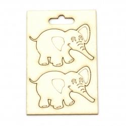 Слон от бирен картон 48x35 мм -2 броя
