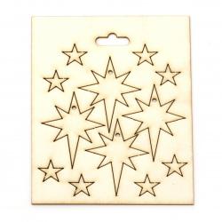 Carton de bere stele de 15 mm și 50x35 mm -12 buc