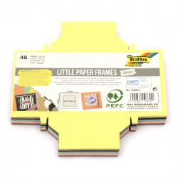 Cadru de hârtie pentru asamblare pătrat 9x9 cm SQUARE FOLIA culori asortate -48 bucăți