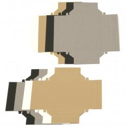 Cadru de hârtie pentru asamblare 9x9 cm și 12x9 cm FOLIA 4 culori -8 bucăți