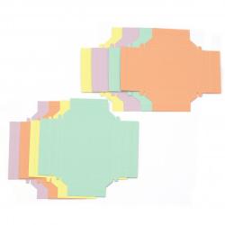Хартиена рамка за сглобяване 9x9 см и 12x9 см FOLIA 4 пастелни цвята -8 броя